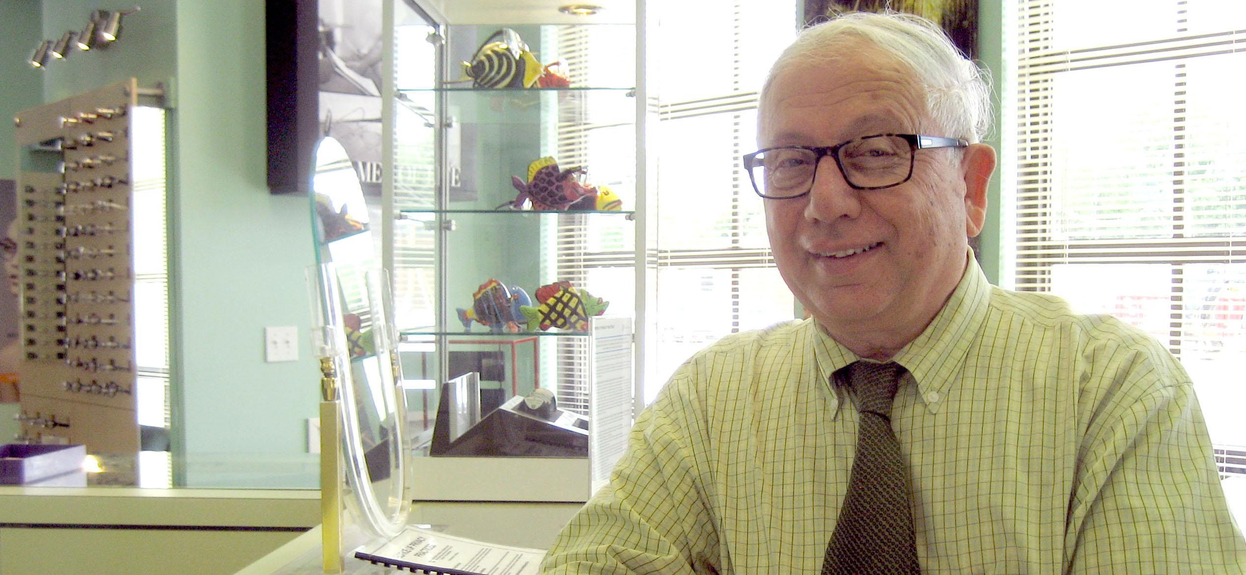 Dr. Irving Edelsberg, Optician at Optical World